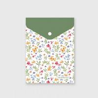 Small fresh zakka folder waterproof document bag storage protective case bag