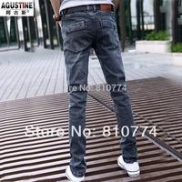 Big Discount High Quality Men's 2014 spring male jeans elastic slim male water wash skinny pants