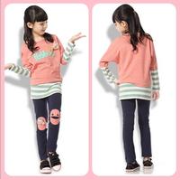 Джинсы для девочек Spring Summer Jeans Fashion Children Print Colorful Loose Trousers Girls Printing Flower Pants New style