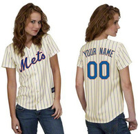 Fashion Personalized custom women baseball jerseys Mets customized Your Name Number,mix order ,sewn logos