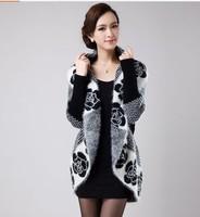 Spring wool seahorse sweater cardigan women's neck cape cardigan sweater outerwear female