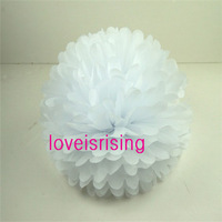 "(20pcs/Lot) 15cm (6"") White Tissue Paper Pom Poms Wedding Party Decor Flower Balls For Living Room Decor-20 Colors You Pick"