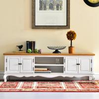 High quality fashion wood furniture elm black and white series convoluting bolk tv cabinet o