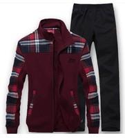 Male / Female sports suit high quality stand collar sportswear suit / casual cardigan treadmill Sportswear