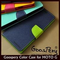 Original MERCURY Goospery Color Shock Flip Leather Case for MOTO G XT937C, XT1028, XT1031 +Free Shipping