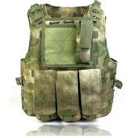 free shipping CS Vest Molle Tactical Vest Army fans amphibious vests A-TACS FG Color PRO MOLLE VEST