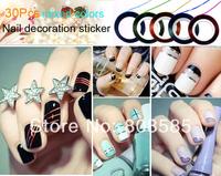 90Pcs Mixed Colors Rolls Striping Tape Line DIY Nail Art Tips Decoration Sticker Nail Care Free Shipping