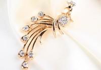 rhinestone brooch pin ,gold plating peacock booch pin  , item LX-1344