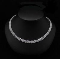 Korean Fashion Jewelry AAA Grade Zircon Crystal Necklace Rome Free Shipping