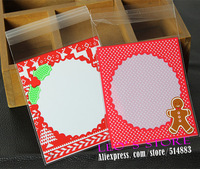 Wholesale Self Sealing Bag 400Pcs/Lot, Gingerbread Man Printing Bakery Packing Bag, Gift Package LSS093