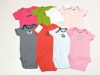 2014 Summer short-sleeve toddler's cotton Jumpsuits Carter's Baby Suit Carters Rompers Boy Girl design multicolour