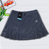 2014 women's quick-drying Printed Pleated A-line dress milk silk skirt sports tennis skirt Free shipping
