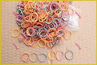 Double Colors Tye Dye Bands Latex Free Rainbow Kit Loom Rubber Band Refill, WHOLESALE DIY BRACELET Rubber Bands 6 Colors Mixed