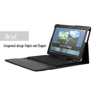 "Business Waterproof High quality Wireless Bluetooth 3.0 Keyboard Case Stand For Samsung Galaxy note 10.1"" N8000 Free Shipping"