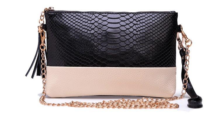 2014 Crocodile Genuine leather Tassel Handbags Shoulder Bags Messenger Bag Day Clutch Chain Bag Small Bag Women's Clutches M43(China (Mainland))