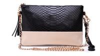 2014 Crocodile Genuine leather Tassel Handbags Shoulder Bags Messenger Bag Day Clutch Chain Bag Small Bag Women's Clutches M43