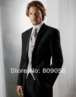 M43 (jacket+pants+vest+tie) two buttons single breasted notch lapel bridegroom Tuxedo Groom formal prom Wedding business Suit