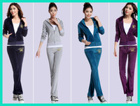 2014 spring women's velvet sports set female spring and autumn sweatshirt sports casual set