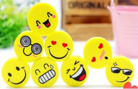 2014 Papelaria Maio Material Escolar Infantil 20 Pieces Funny Cute Smiling Face Pencil Erase Rubber Stationary Kid Gift Toy New