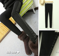 Octopussy fashion 2013 sidepiece patchwork handsome add velvet thick thermal legging