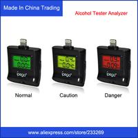 Free Shipping Newest  iPega Digital Backlight Breath Alcohol Tester Analyzer For iPhone 5 5S 5G/ iPad 4/Ipad Mini/Ipod Touch 5