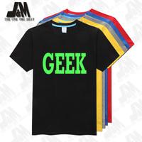 Fashion vintage summer geek short-sleeve T-shirt men tshirt full size S-6XL Glow t shirt