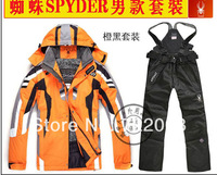 Yellow Top Quality Men's Winter Outdoor Ski Suit Skiing Snowboard Jacket And Pants Winter Clothing size S - XXL