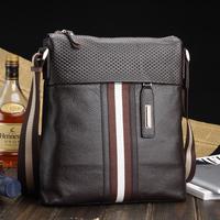 New arrive messenger bag genuine leather boy business bag shoulder bag