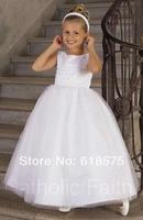 2013 New Arrival White Ball Gown Flower Girls' Dresses FC015