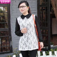 Plus size clothing mm spring 2014 plus size clothing chiffon shirt t-shirt female