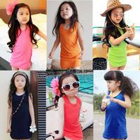 2014 summer candy slim hip paragraph girls clothing baby child qz-0391 tank dress