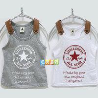 2014 summer star letter boys clothing girls clothing baby child tx-0318 tank