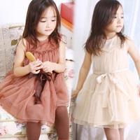 2014 summer dream gauze girls clothing child qz-0341 sleeveless one-piece dress