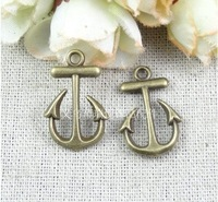 15*23MM antique bronze zinc alloy Vintage anchor charm DIY ZAKKA handmade jewelry materials, nautical charms nautical jewelry