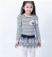 2014 new fashion Korean version of the long-sleeved dress flouncing old girl