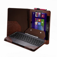 Brown Leather PU Keyboard Pouch Folio Stand Case Cover For Asus Transformer Book T100TA T100