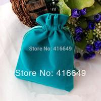 Free Shipping 50pcs/Lot 16x12cm Green thickening Velvet Drawstring Pouch Bag/Jewelry Bag,Christmas/Wedding Gift Bag