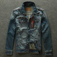 2014 New Spring Autumn Men Denim jackets Jacket Tops Jeans Casual coat Slim Outerwear Washed Short Cotton Plus Size XXXL Free