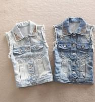new in 2014 denim vest women jeans vests waistcoat casual dress women's vest lace fashion coat women's top 2014 spring clothing