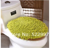 Chenille toilet cover 2 piece toilet mat in the bathroom / toilet cushion for toilet seat cover, seat cover t +U mat