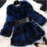 Winter Warm Female jacket 100% Genuine Raccoon Fur Women Coat  Long Slim Design Lady Outwear Coats