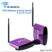 5.8GHZ Wireless AV TV Audio Video Sender Transmitter Receiver IR Remoter PAT550 infrared repeater