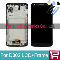 100% Warranty for LG Optimus G2 D802 LCD Digitizer Touch Screen Assembly with frame Replacement black