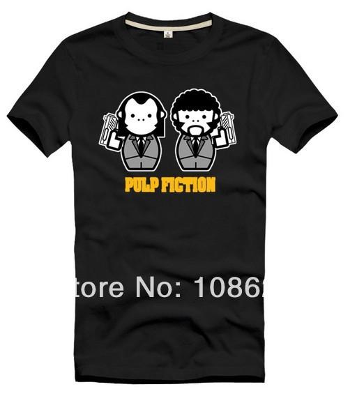 Wholesale PULP FICTION John Travolta KULT t shirt DIY custom deisgn logo shirts 100%Cotton Men Women Kid Children's size t shirt(China (Mainland))