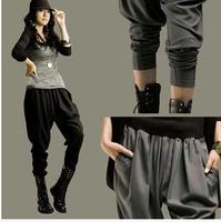 S-3XL Harem pants women 2014 Spring Summer Plus size Casual Loose pants Jogger pants Hip hop Dance wear