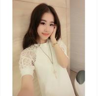 2014 spring raglan sleeve one-piece dress lace sleeve plus size one-piece dress