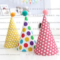 birthday party supply Polka dot birthday hat child birthday polka dot cap baby birthday hat party hats