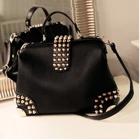 2014HOT Fashion  Mango women's handbag mng bag mango metal rivet women's handbag bag shoulder bag