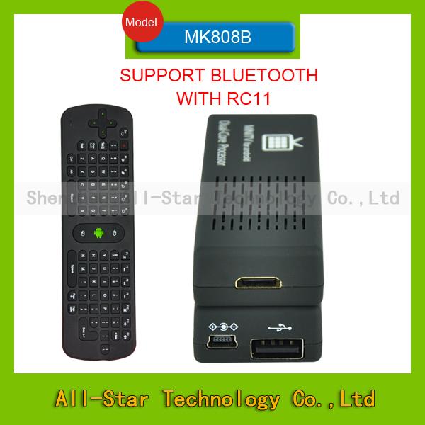 2014 New TV BOX MK808 B Rockchip RK3066 Dual-Core MK808 mk808b TV Stick 1GB RAM 8GB ROM+ Wireless keyboard RC11(China (Mainland))