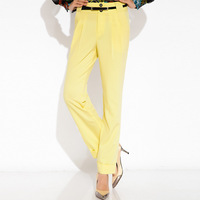 2014 summer brief ankle length trousers skinny pants harem pants slim personalized k036sp13
